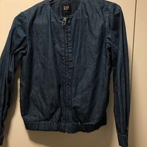 Women's Gap bomber style denim jacket
